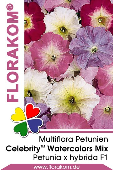 multiflora petuniensamen celebrity watercolors mix florakom. Black Bedroom Furniture Sets. Home Design Ideas
