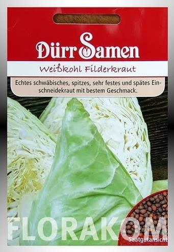 <hr>Weißkohl - Filderkraut <hr>Dürr Samen<hr>