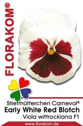 Stiefmütterchen Carneval® Early White Red Blotch