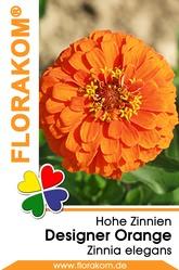 Zinnien Designer Orange Samen